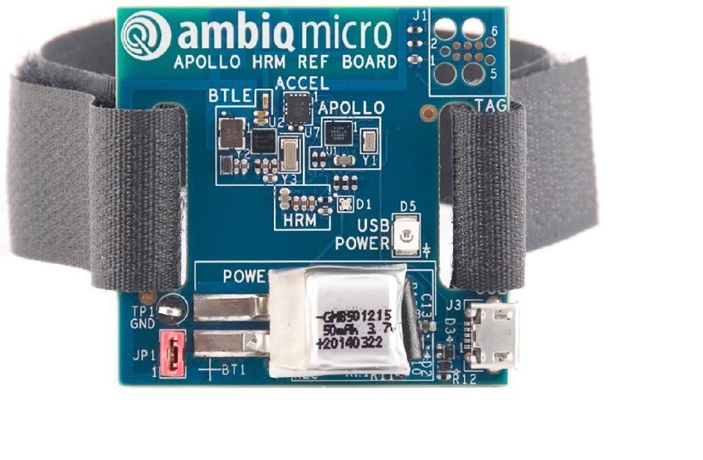Ambiq tarjoaa tuotekehityksen tarpeisiin HRM-mittauksen kehityskortin.